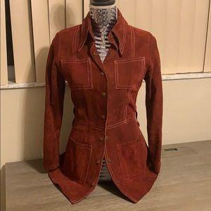 Vintage Ruby Suede Bagatelle Coat